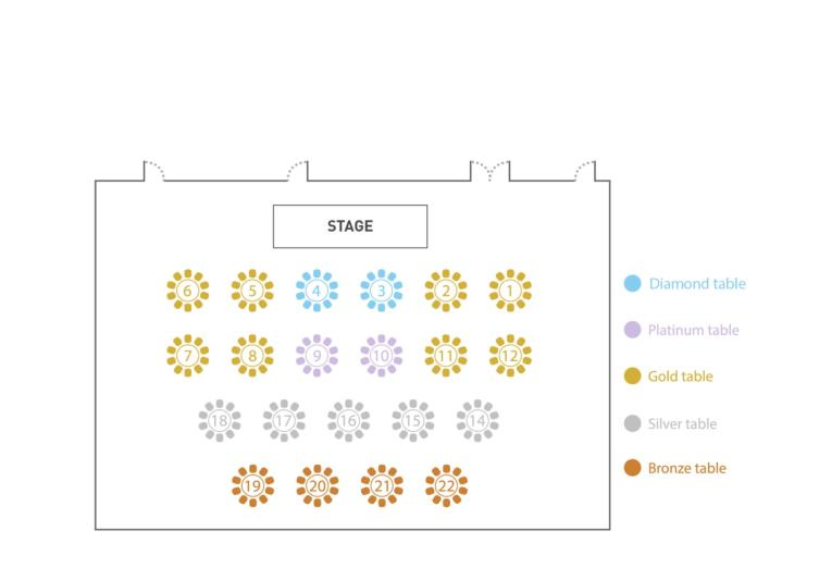Table plan and prices