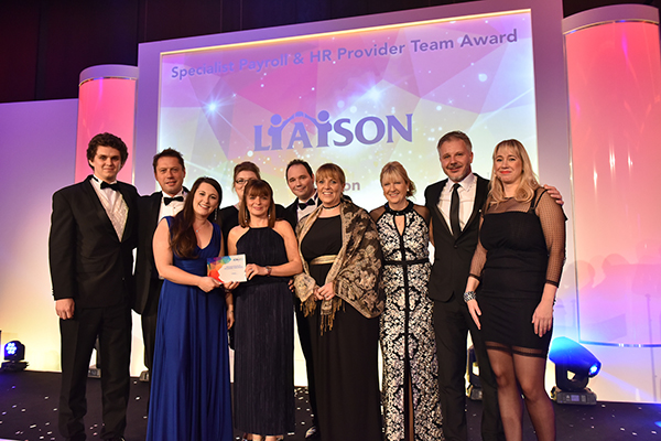 2017's Specialist Payroll & HR Provider Team Award winners: Liaison