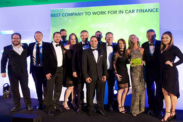 On the podium: The winners of the Car Finance Awards 2018