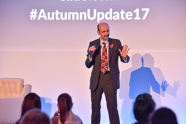 Ian Holloway speaking at the Autumn Update 2017