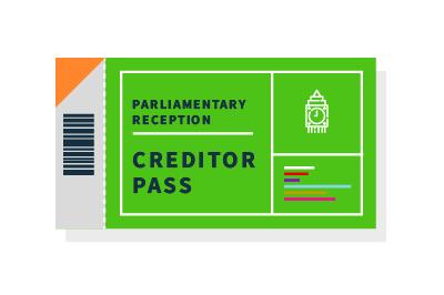 Creditor pass - Parliamentary Reception