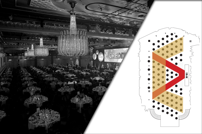 Gold table - Credit Awards