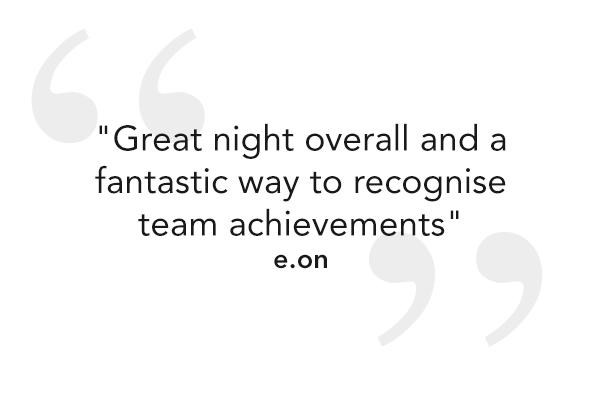 """Great night overall and a fantastic way to recognise team achievements"""
