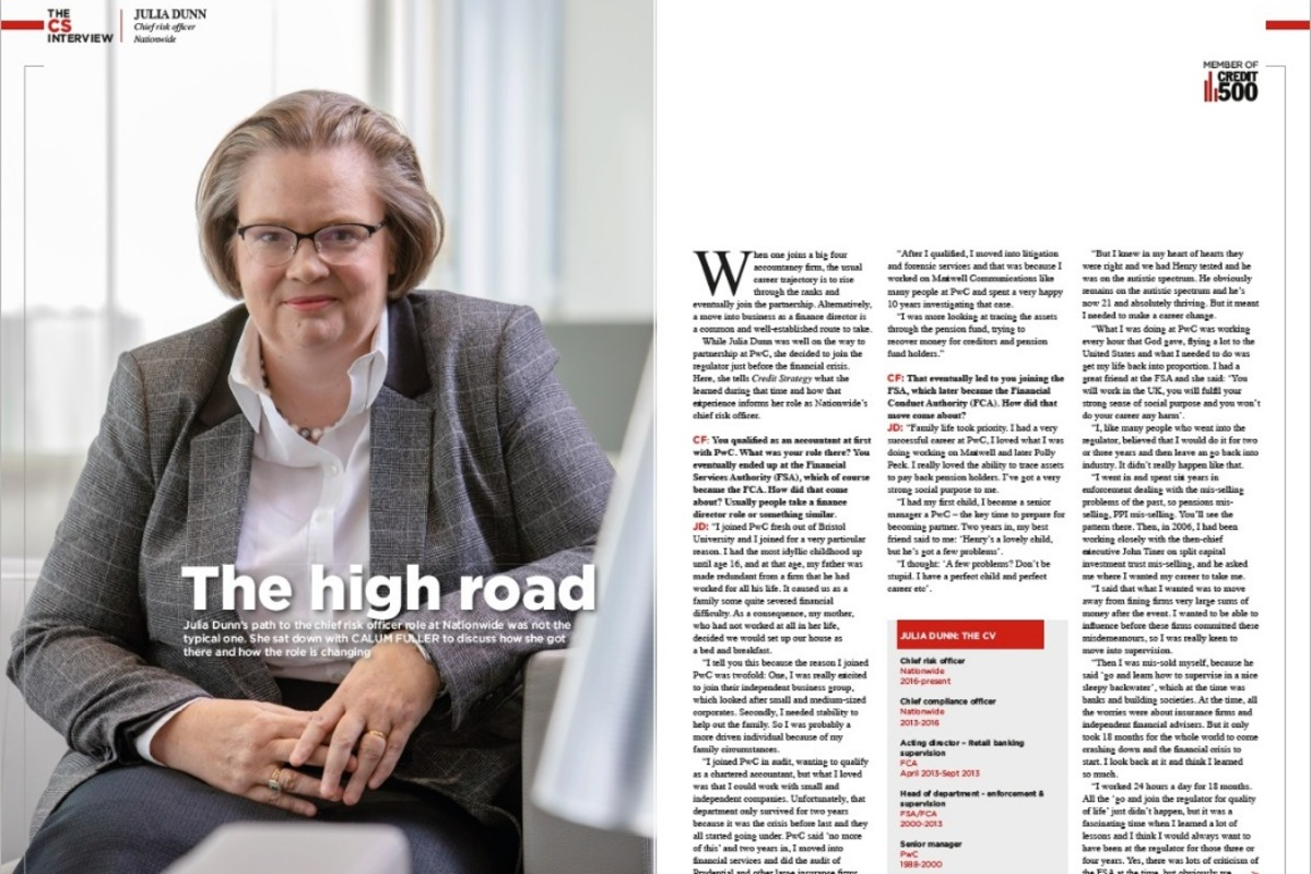 Julia Dunn, chief risk officer, Nationwide Building Society