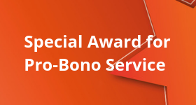 Special Award for Pro-Bono Service