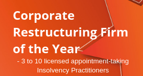 Corporate Restructuring Firm of the Year - 3 to 10 licensed appointment-taking Insolvency Practitioners