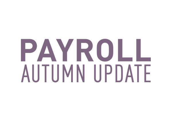Payroll Autumn Update 2020