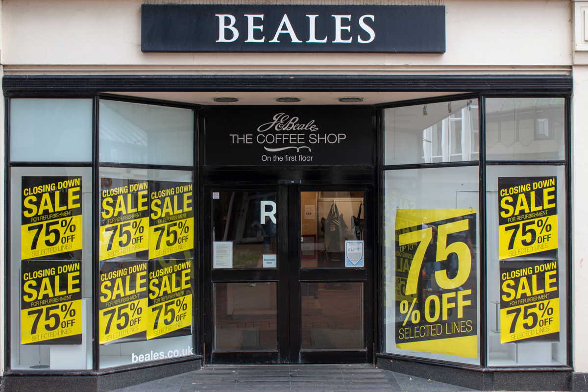 Administrators to close remaining Beales stores
