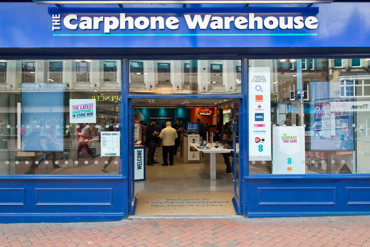 Carphone Warehouse to shut 531 standalone stores