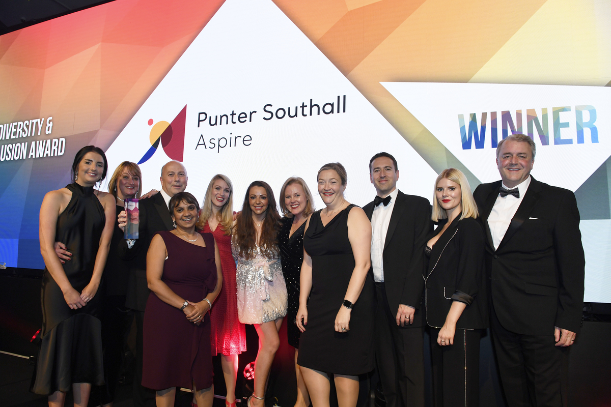 The PSA team collecting their award at The Rewards 2019