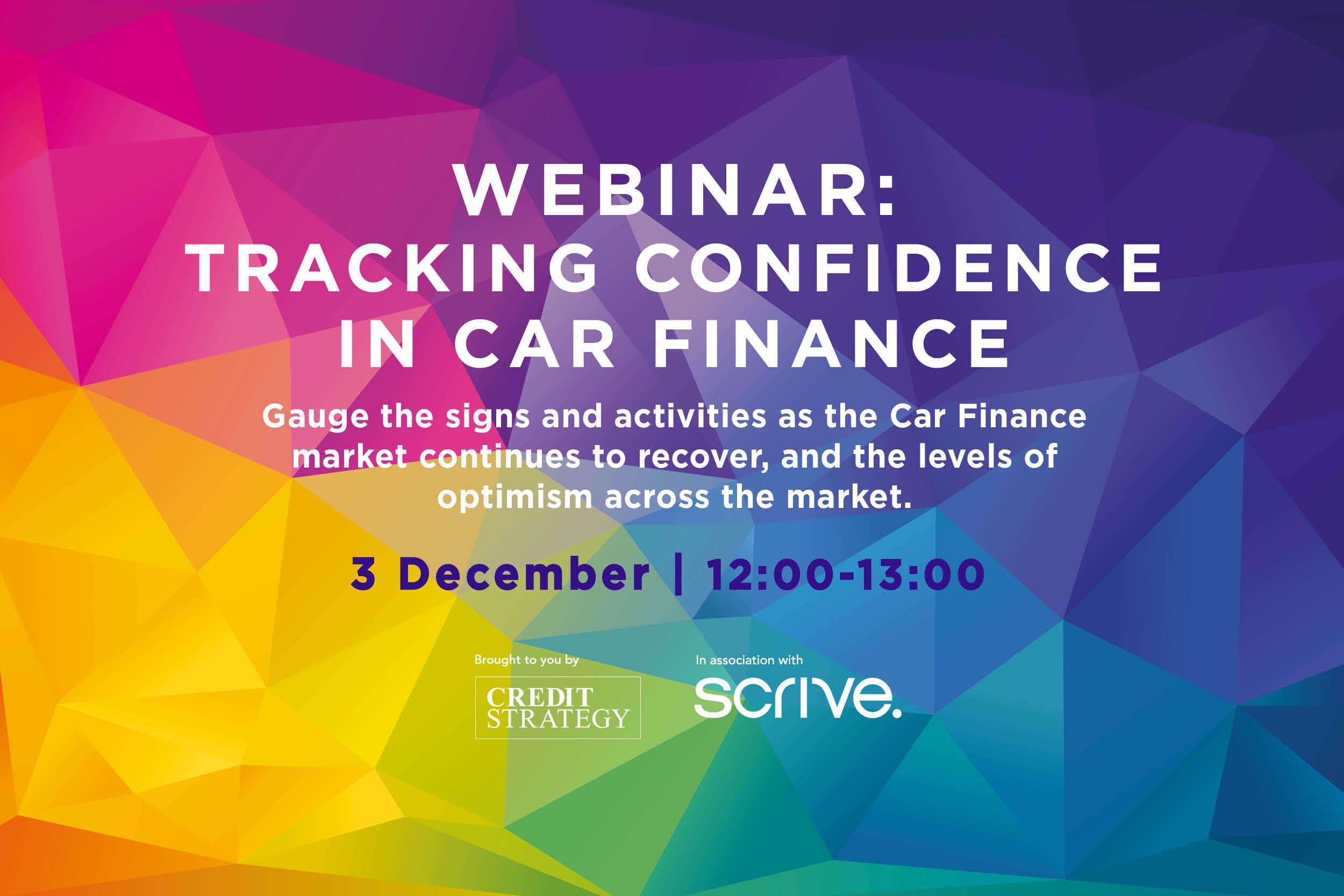 Tracking confidence in Car Finance webinar