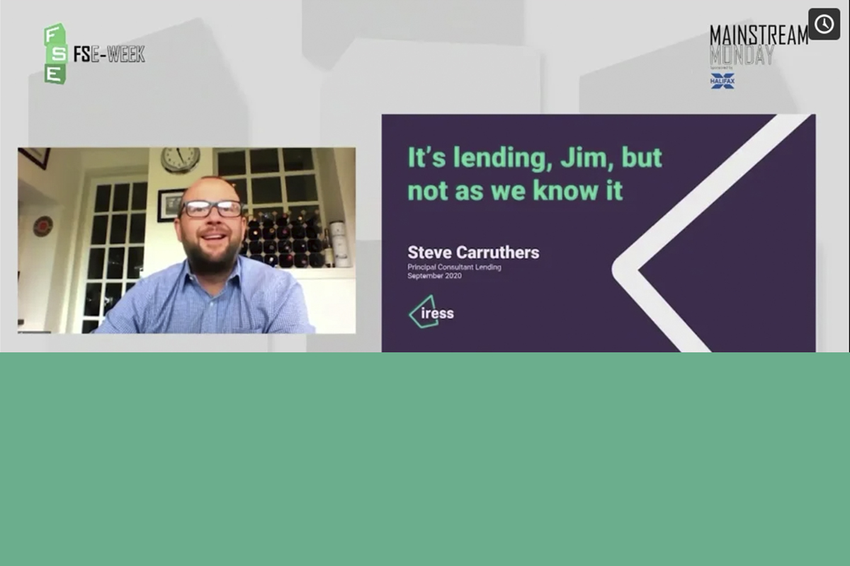 It's mortgage lending, Jim, but not as we know it