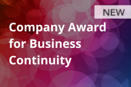 Company Award for Business Continuity (NEW)