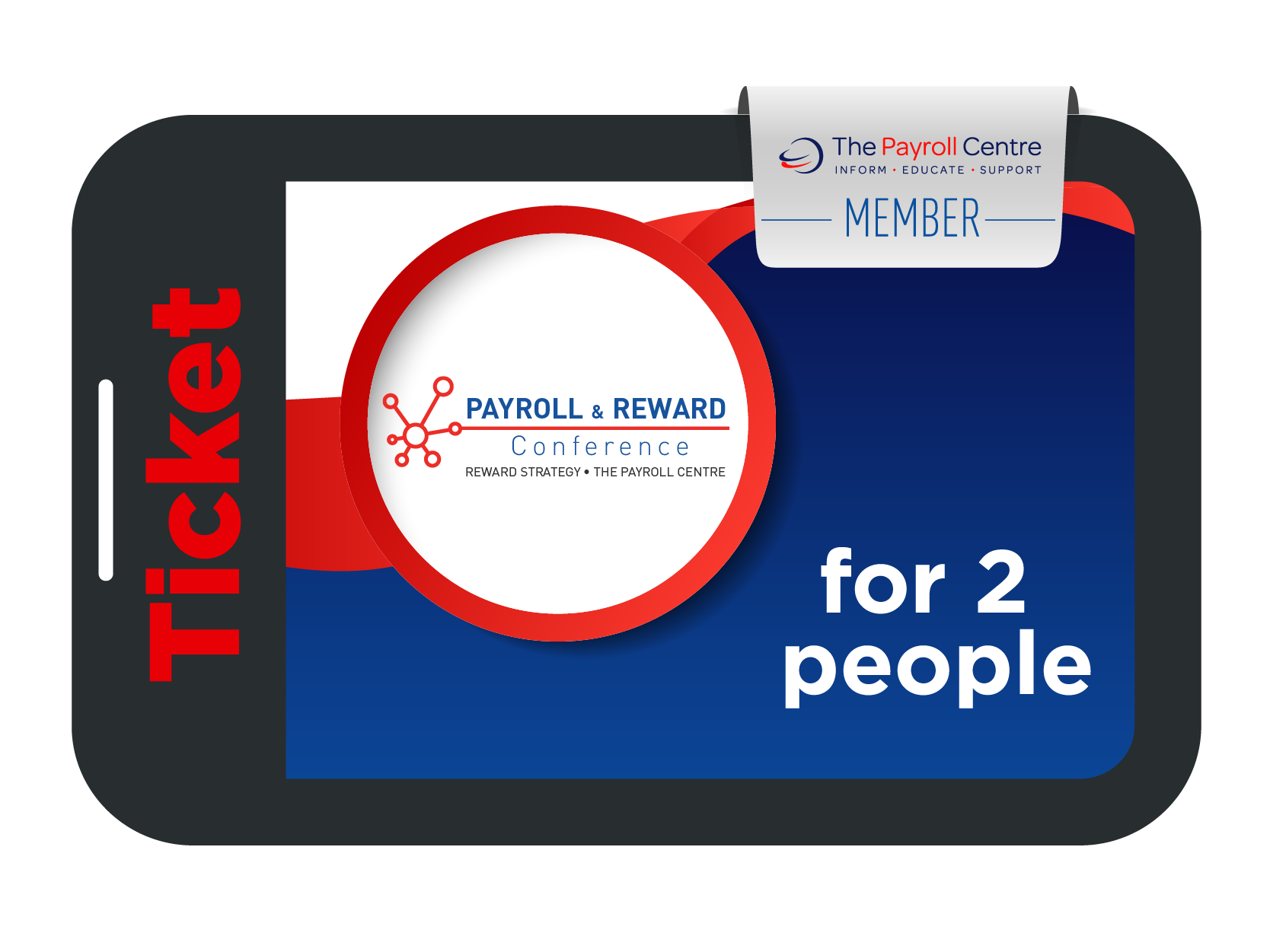 Digital pass: In-house / Client for 2 people - Payroll & Reward Conference 2021 - Payroll Centre member