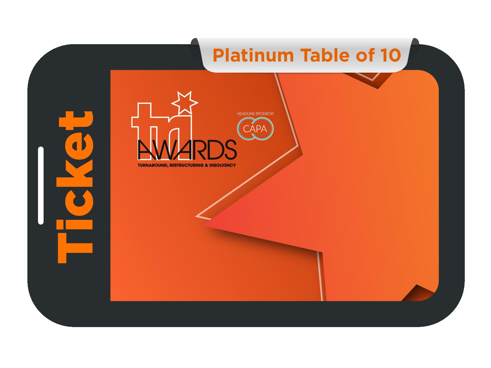 Platinum Table of 10 - TRI Awards 2021