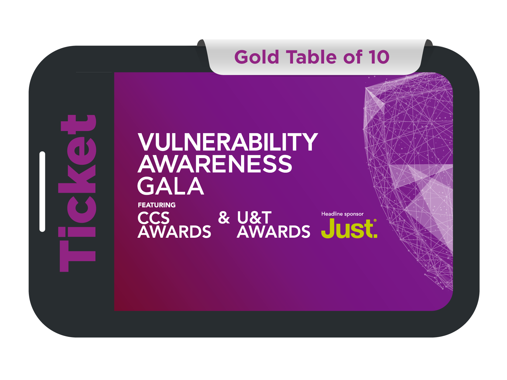 Gold Table of 10 - Vulnerability Awareness Gala feat. CCS and U&T Awards 2021