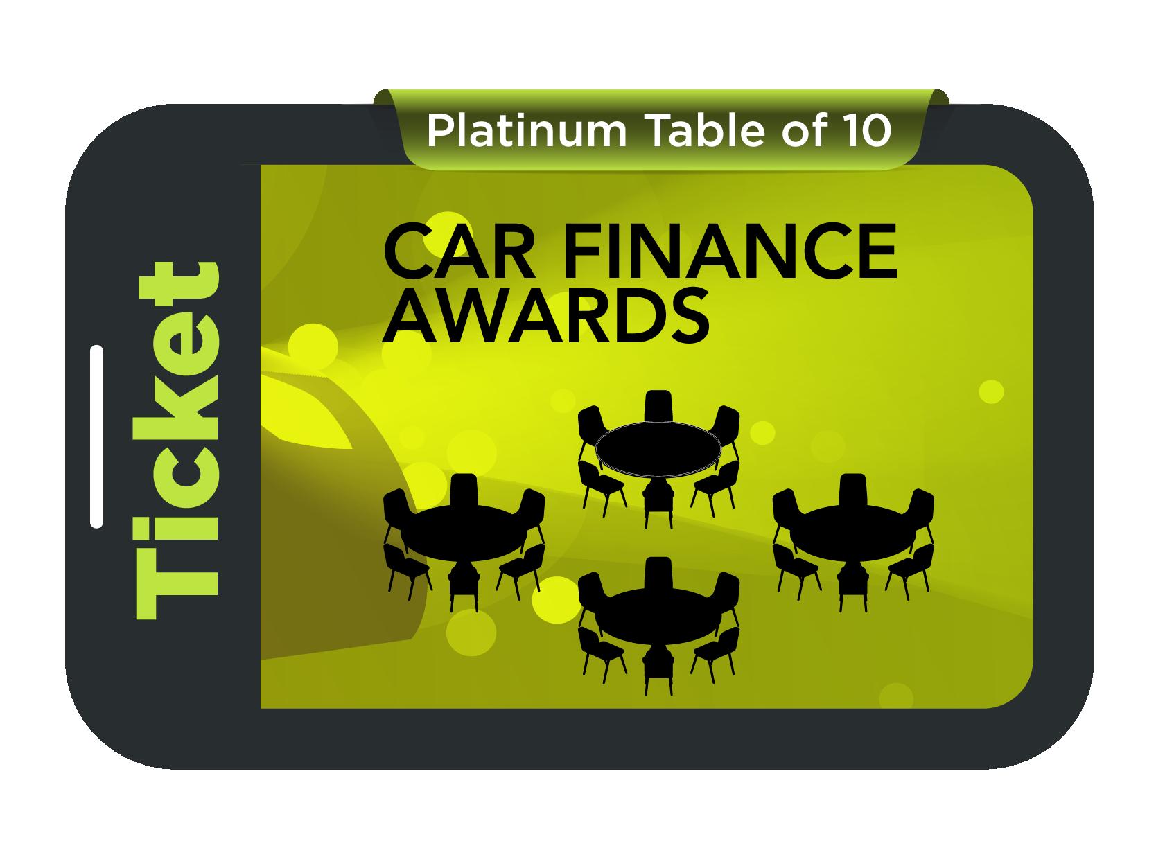 Platinum Table of 10 - Car Finance Awards 2021